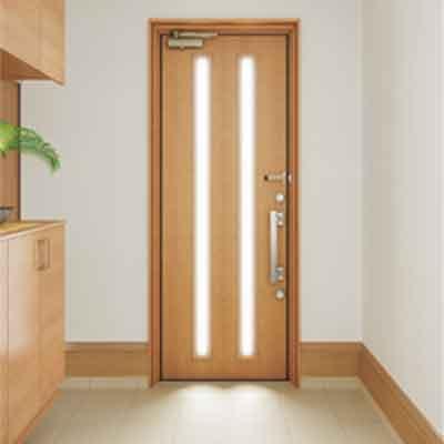 採光タイプで明るい玄関に